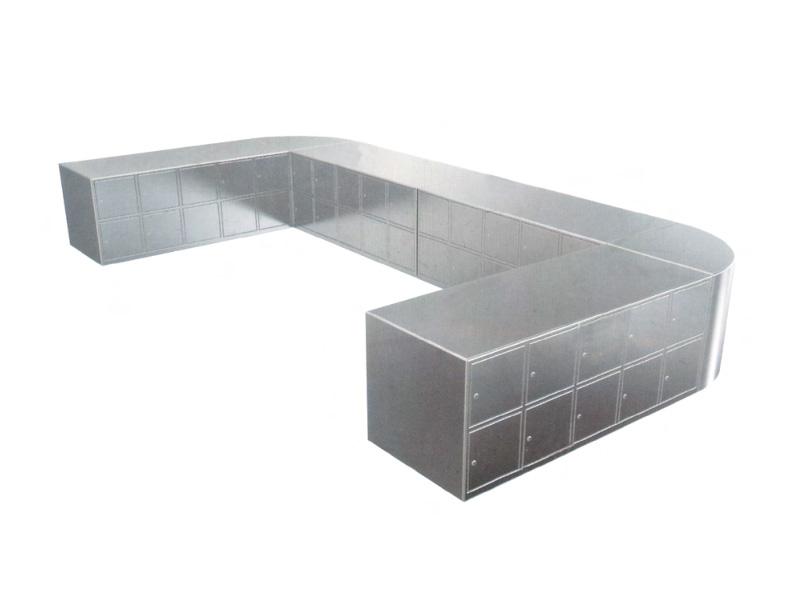 LH0001-U型双面带门坐式鞋柜