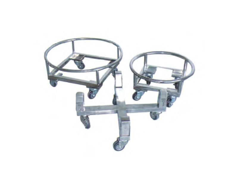 LH0076-不锈钢四轮桶车