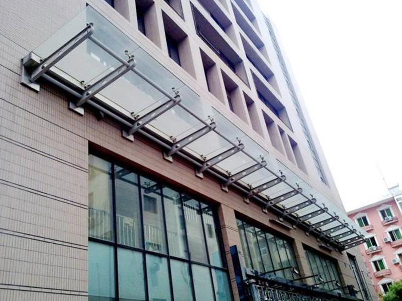 玻璃雨棚工程案例